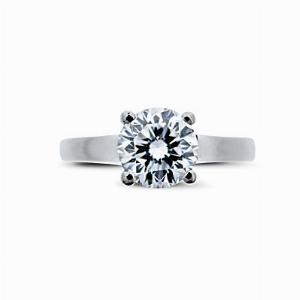 Platinum Brilliant Cut Single Stone Diamond Ring 1.17ct EVS2 GIA